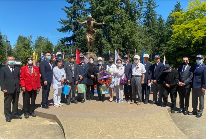 캐나다 전역의 한국전 발발 71 주년 기념식