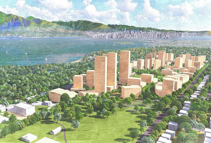 밴쿠버 제리코지역 개발초안 발표
